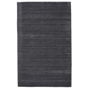 Second Sunset Gradient Solid Dark Blue and Gray 8 Ft. x 10 Ft. Area Rug