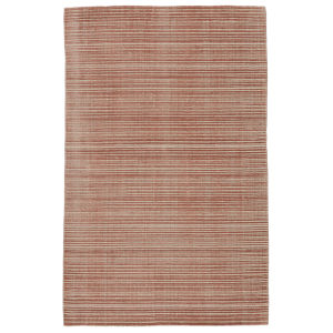 Second Sunset Gradient Solid Dark Pink and Cream 8 Ft. x 10 Ft. Area Rug
