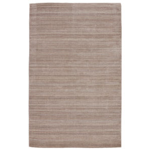 Second Sunset Gradient Solid Light Taupe and Gray 5 Ft. x 8 Ft. Area Rug