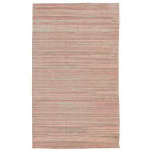 Second Sunset Gradient Solid Pink and Cream 5 Ft. x 8 Ft. Area Rug