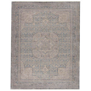 Winsome Epsilon Medallion Blue and Gray 7 Ft. 10 In. x 9 Ft. 10 In. Area Rug