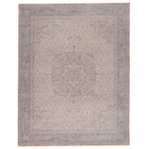 Winsome Epsilon Medallion Red and Blue 6 Ft. 3 In. x 9 Ft. 6 In. Area Rug