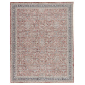 Winsome Brinson Oriental Red and Gray 7 Ft. 10 In. x 9 Ft. 10 In. Area Rug