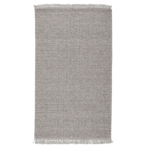 Breathe Easy Caraway Solid Gray and Cream 5 Ft. x 8 Ft. Area Rug