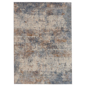 Raveen Eastvale Abstract Blue and Tan 7 Ft. 6 In. x 9 Ft. 6 In. Area Rug