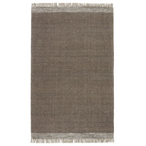 The Weekend Sunday Border Light Brown and Gray 5 Ft. x 8 Ft. Area Rug
