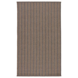 Brontide Madaket Striped Taupe and Gray Indoor/Outdoor 5 Ft. x 8 Ft. Area Rug