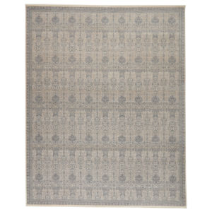 Winsome Beaumont Trellis Blue and Cream 7 Ft. 10 In. x 9 Ft. 10 In. Area Rug
