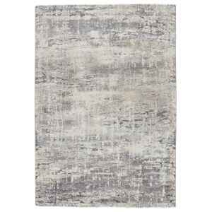 Ferris Benton Abstract Gray and Ivory 3 Ft. x 10 Ft. Runner Rug