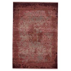 Zefira Enyo Medallion Red and Pink 5 Ft. x 8 Ft. Area Rug