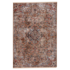 Zefira Amena Medallion Gold and Gray 8 Ft. x 10 Ft. 6 In. Area Rug