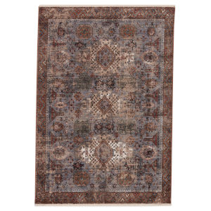 Zefira Razia Medallion Gold and Gray 8 Ft. x 10 Ft. 6 In. Area Rug