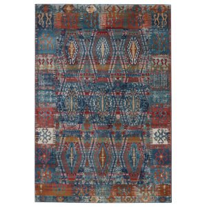 Prisma Miron Trellis Blue and Red 8 Ft. 10 In. x 11 Ft. 9 In. Area Rug