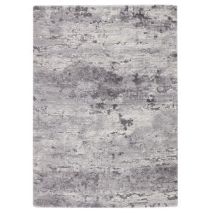 Ferris Coen Abstract Gray and Ivory 8 Ft. x 10 Ft. Area Rug