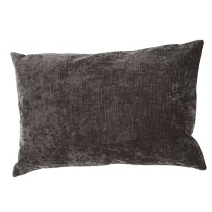 Luxe Charcoal 16 x 24-Inch Decorative Pillow