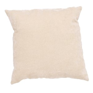 Luxe Cream 20-Inch Decorative Pillow