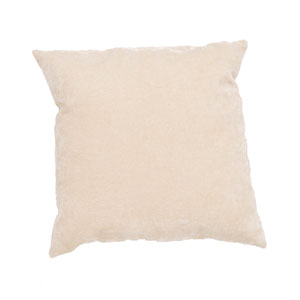 Luxe Wood Ash 20 In. Pillow with Poly Fill