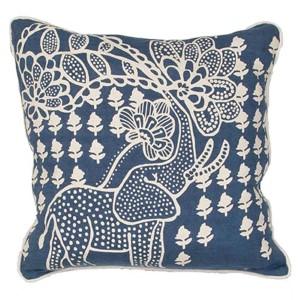 Luli Sanchezs LSC08 Blue 18-Inch Decorative Pillow