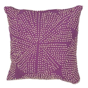 Luli Sanchezs Purple 18-Inch Decorative Pillow