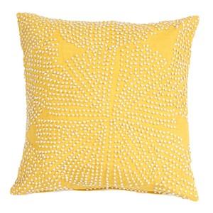 Luli Sanchezs Yellow 18-Inch Decorative Pillow