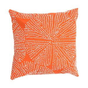 En Casa by Luli Sanchez Pillows Mandarin Orange 18 In. Pillow with Down Fill