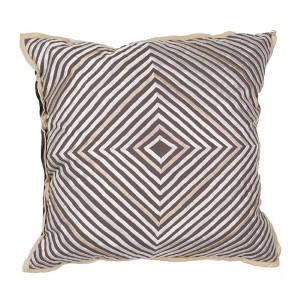 Luli Sanchezs Gray 18-Inch Decorative Pillow