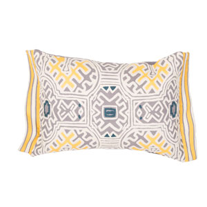 Traditions Made Modern Pillows Golden Rod 14 In. x 20 In. Pillow with Down Fill