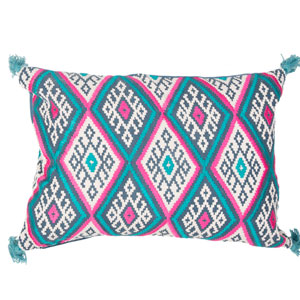 Traditions Made Modern Pillows Orion Blue 14 In. x 20 In. Pillow with Poly Fill