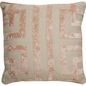 Cosmic by Nikki Chu Oatmeal 22 In. Pillow with Down Fill