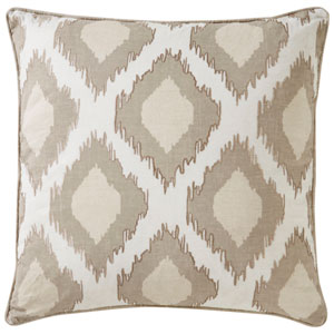 Cosmic by Nikki Chu Bone White 22 In. Pillow with Down Fill