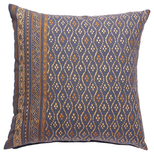 Charmed by Jennifer Adams Pillows Blue Indigo 20 In. Pillow with Down Fill