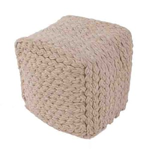 Scandinavia Brown Heather Cube Pouf