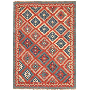 Anatolia Red and Blue Rectangular: 5 Ft. x 8 Ft. Rug