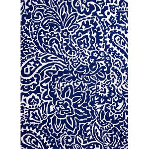 Barcelona I-O Blue and Ivory Rectangular: 5 Ft. x 7 Ft. 6 In. Rug