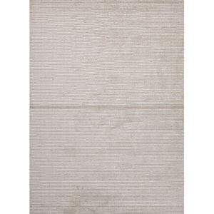 Basis White and Ivory Rectangular: 5 Ft. x 8 Ft. Rug