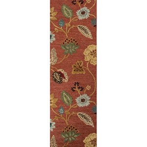 Blue Red and Multi-Colored Runner: 2 Ft. 6 In. x 12 Ft. Rug