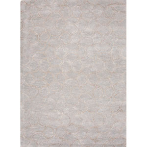 Baroque Blue and Gray Rectangular: 5 Ft. x 8 Ft. Rug
