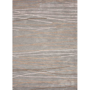 Baroque Ivory and Gray Rectangular: 5 Ft. x 8 Ft. Rug