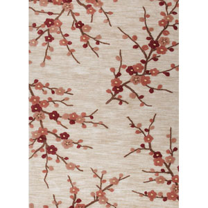 Brio Ivory and Red Rectangular: 5 Ft. x 7 Ft. 6 In. Rug