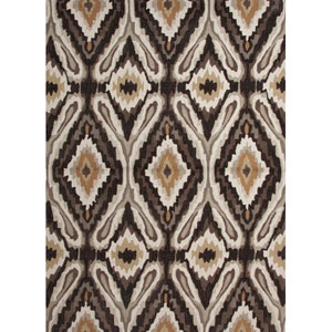 Brio Brown and Ivory Rectangular: 2 Ft. x 3 Ft. Rug