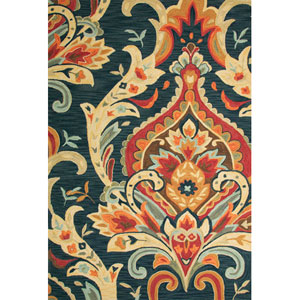 Brio Blue and Red Rectangular: 5 Ft. x 7 Ft. 6 In. Rug