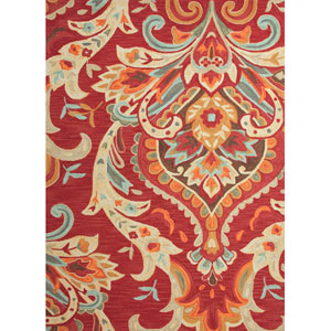 Brio Red and Blue Rectangular: 5 Ft. x 7 Ft. 6 In. Rug