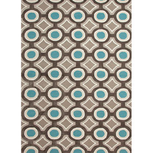Brio Blue and Gray Rectangular: 7 Ft. 6 In. x 9 Ft. 6 In. Rug