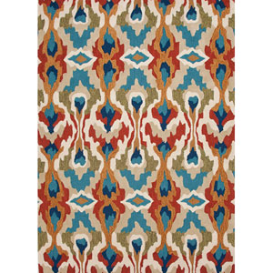 Brio Light Red and Blue Rectangular: 5 Ft. x 7 Ft. 6 In. Rug