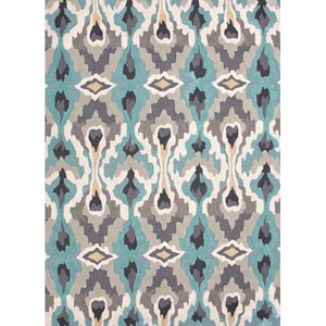 Brio Blue and Ivory Rectangular: 5 Ft. x 7 Ft. 6 In. Rug