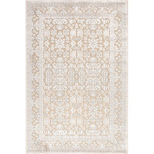 Fables Taupe and Ivory Rectangular: 9 Ft. x 12 Ft. Rug