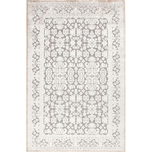 Fables Gray and Ivory Rectangular: 5 Ft. x 7 Ft. 6 In. Rug