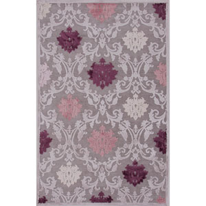 Fables Gray and Purple Rectangular: 5 Ft. x 7 Ft. 6 In. Rug