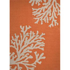 Grant I-O Orange and Ivory Rectangular: 5 Ft. x 7 Ft. 6 In. Rug