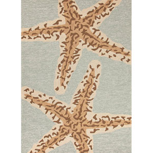 Grant I-O Blue and Brown Rectangular: 5 Ft. x 7 Ft. 6 In. Rug